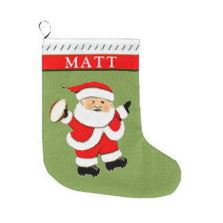 personalized rugby Christmas gifts Large Christmas Stocking
