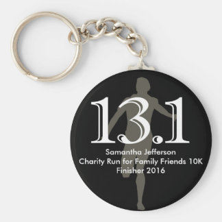 Personalized Runner 13.1 Half Marathon Keepsake Basic Round Button Keychain
