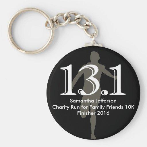 Personalized Runner 13.1 Half Marathon Keepsake Key Chains