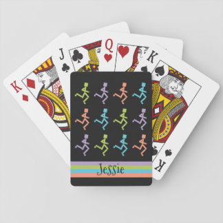 Personalized Runners Running Playing Cards
