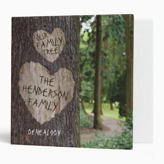 Personalized Rustic Family Tree Genealogy Vinyl Binders