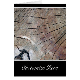 Personalized Rustic Wood Design Greeting Card