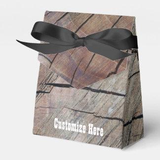 Personalized Rustic Wood Grain Design Favor Box