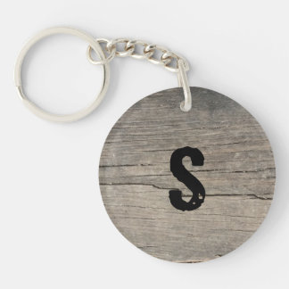Personalized Rustic Wood Keychain