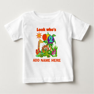 Personalized Safari 2nd Birthday Tshirt