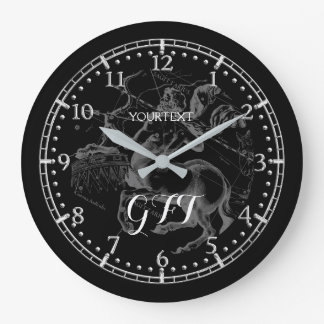 Personalized Sagittarius Constellation Zodiac Large Clock