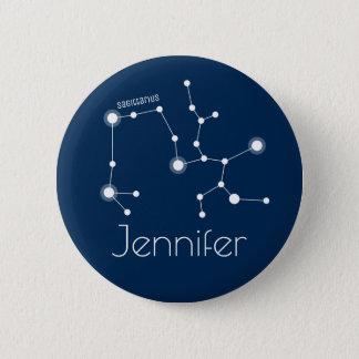 Personalized Sagittarius Zodiac Constellation 2 Inch Round Button