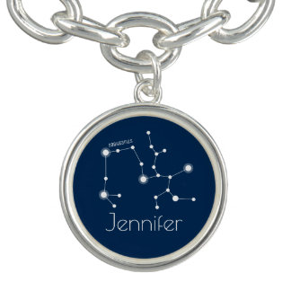 Personalized Sagittarius Zodiac Constellation Charm Bracelet