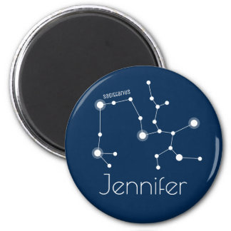Personalized Sagittarius Zodiac Constellation Magnet