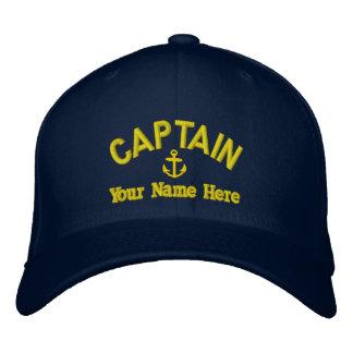 Personalized sailing captains baseball cap