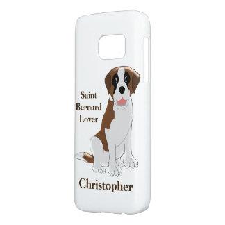 Personalized Saint Bernard Design Samsung Galaxy S7 Case
