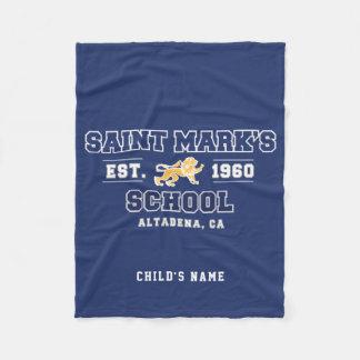 Personalized Saint Mark's Fleece Blanket