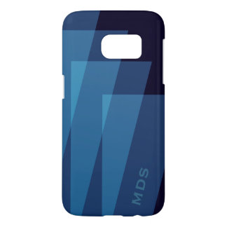 Personalized Samsung Galaxy S7 Case Blue Geometric