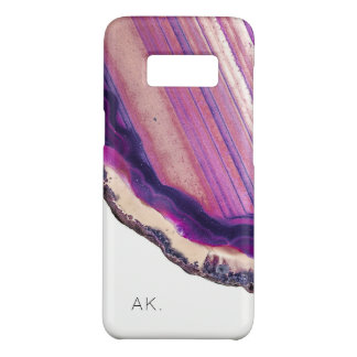Personalized Samsung S8 case | Purple Crystal