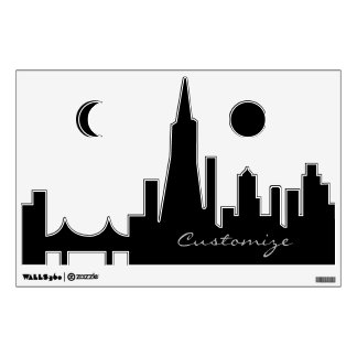 Personalized San Francisco Skyline Silhouette Wall Decal