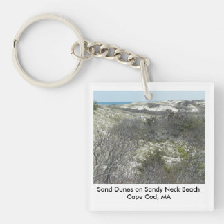 Personalized Sand Dunes, Sandy Neck Beach Keychain