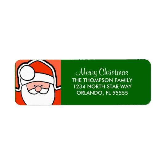Personalized Santa Cartoon Return Address Labels