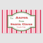 Personalized Santa Gift Tag Stickers