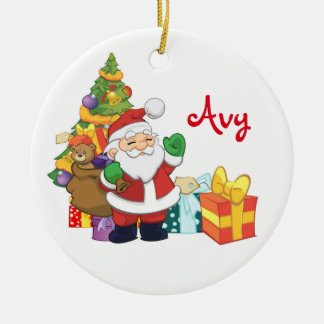 Personalized Santa Ornament