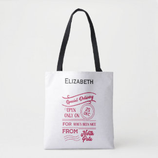 Personalized Santa Sac Tote Bag