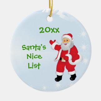 Personalized Santa's Nice List Ornament