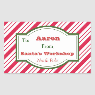 Personalized Santa's Workshop Gift Tag Stickers
