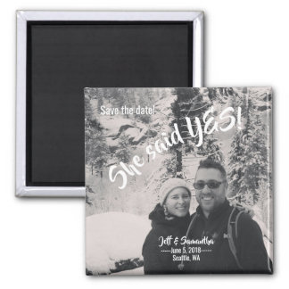 Personalized Save the Date magnet