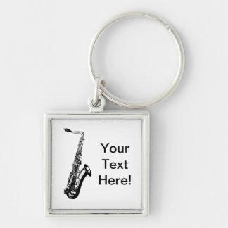 Personalized Saxophone Keychain