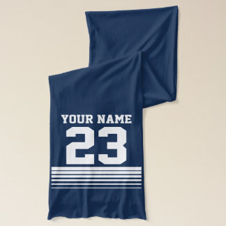 Personalized scarfs with name and jersey number scarf
