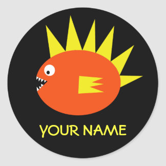 Personalized Scary Fish Sticker