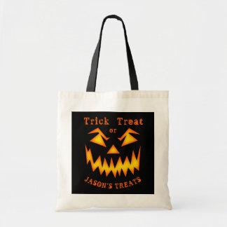 Personalized Scary Pumpkin Halloween Bag
