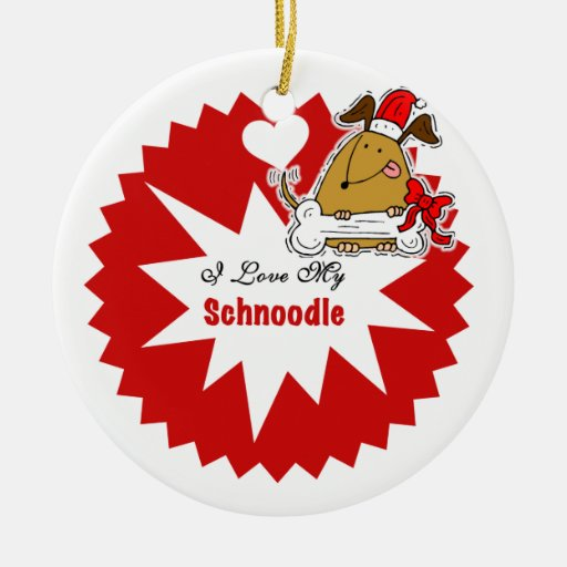 Personalized Schnoodle  Keepsake Ornament