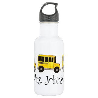 Personalized School Bus Driver Water Bottle
