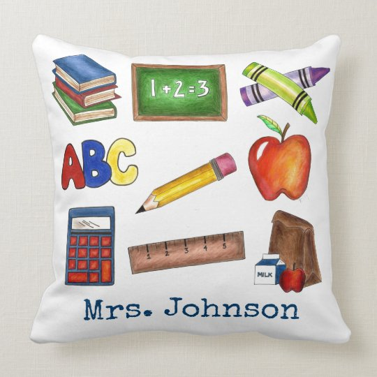 Personalized School Education Teacher Gift Pillow