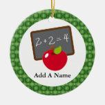 Personalized School Teacher Appreciation Gift Christmas Ornaments