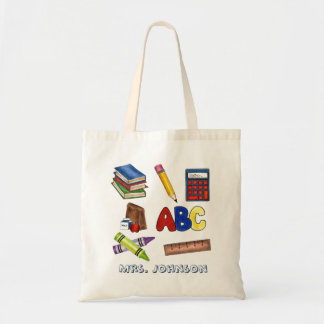 Personalized School Teacher Teaching Gift Tote