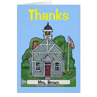 Personalized Schoolhouse Thank You Card