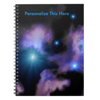 Personalized Sci Fi Nebulae Spiral Notebook