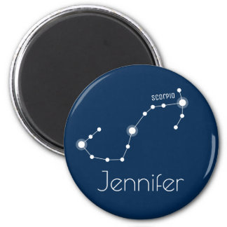 Personalized Scorpio Zodiac Constellation 2 Inch Round Magnet