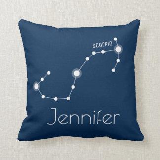 Personalized Scorpio Zodiac Constellation Throw Pillow