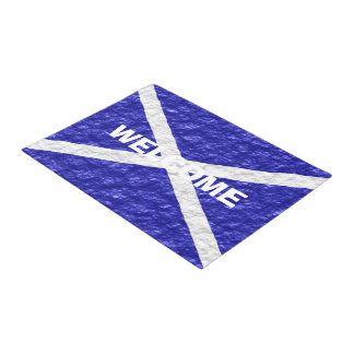 Personalized Scottish Flag Design Doormat