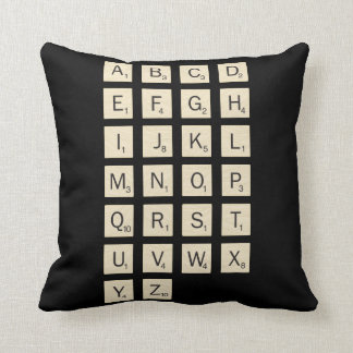 Personalized Scrabble Throw Pillow