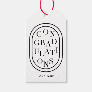 """Personalized Scrambled """"Congratulations"""" gift tag"""