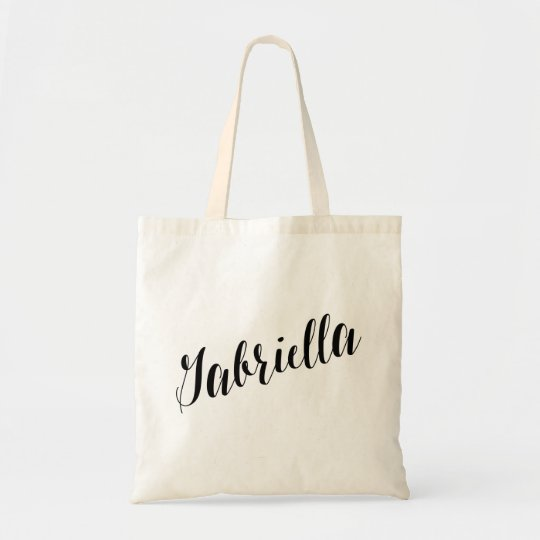 Personalized Script Tote Bag- Gabriella