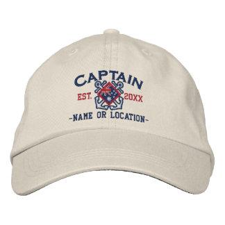 Personalized Sea Captain Nautical Australia Flag Embroidered Hat