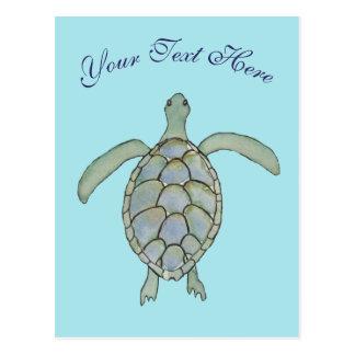Personalized Sea Turtle Postcard