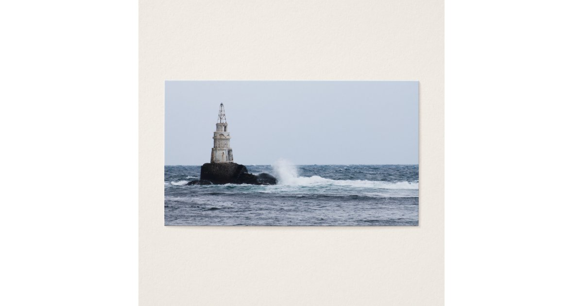 Personalized Seascape with lighthouse Business Card | Zazzle.ca