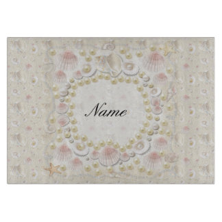 Personalized Seashells and Pearls Boards