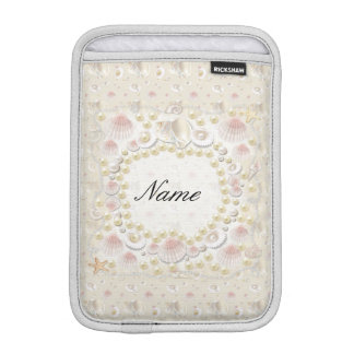 Personalized Seashells and Pearls iPad Mini Sleeve
