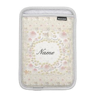 Personalized Seashells and Pearls iPad Mini Sleeve